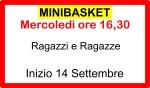 Minibascket mercoledì